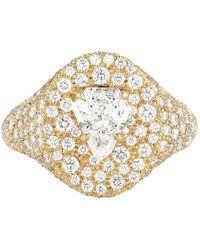 Jemma Wynne - Prive Luxe Diamond Shield Signet Ring - Lyst
