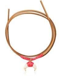 Aurelie Bidermann - Takayama Baby Horn Necklace - Flamingo - Lyst