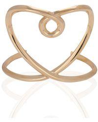 Chloé - Twisted Heart Cuff Bracelet - Lyst