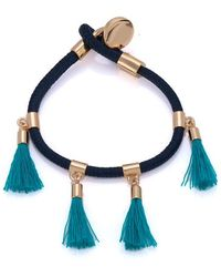 Chloé - Marin Navy And Turquoise Bracelet - Lyst