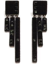 Atelier Swarovski - Viktor & Rolf Velvet Rock Chandelier Earrings - Lyst