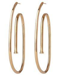 Jennifer Fisher - Large Pipe Hoop Earrings - Lyst