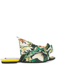 N°21 - Twisted Jacquard Slippers In Floral - Lyst