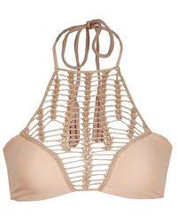 Acacia Swimwear Panama Crochet Top in Naked - Lyst