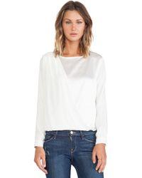 Frame Denim Frame Shirt Le Drape Top - Lyst