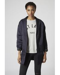 Topshop Embroidered Sateen Duster - Lyst