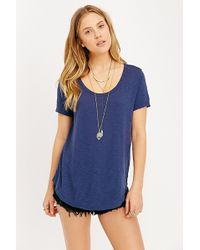 Truly Madly Deeply High/Low Shirttail Tee - Lyst