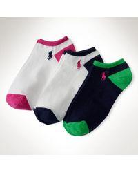 Ralph Lauren Colorblocked Sock 3pack - Lyst