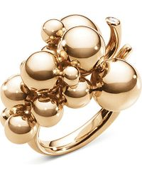Georg Jensen - Moonlight Grapes 18ct Rose-gold And Diamond Ring - Lyst