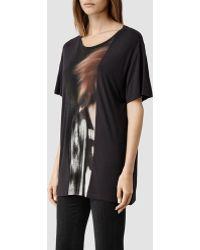 AllSaints Woosh T-Shirt - Lyst