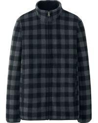 Uniqlo Men Printed Fleece Full-zip Long Sleeve Jacket - Lyst