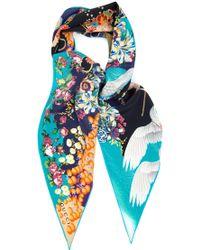 Gucci Printed Silk Blend Scarf - Lyst