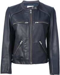 Etoile Isabel Marant Cropped Leather Jacket - Lyst