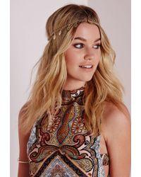 Missguided - Filigree Leaves Chain Headband - Lyst
