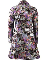 Valentino Butterfly Camo Coat with Belt - Lyst