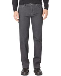 Calvin Klein Straight Fit Stretch Jeans gray - Lyst