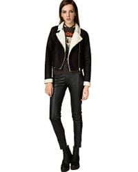 Pixie Market Freja Shearling Moto Jacket - Lyst
