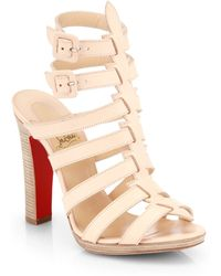 Christian Louboutin Neronna Leather Sandals - Lyst