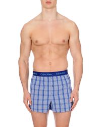 Calvin Klein Checked Cotton Boxers - Lyst