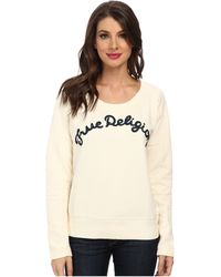 True Religion Tr Chainstitch Embroidered Sweatshirt - Lyst