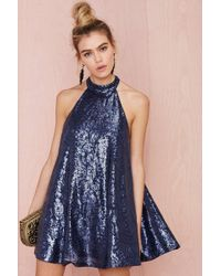 Nasty Gal Niki Shift Sequin Dress - Lyst