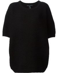 Marc By Marc Jacobs Chunky Knit Short Sleeved Sweater - Lyst