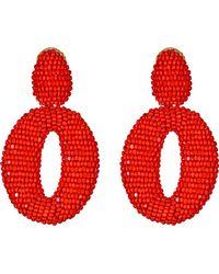 Oscar de la Renta Red Oscar Earring - Lyst