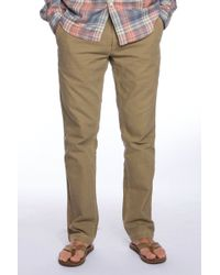 Faherty Brand Low Rise Canvas Jean - Lyst
