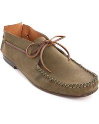 Anthology Paris Khaki Nubuck Boat Shoes - Lyst