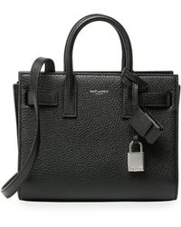 yves saint laurent leather sac garconne
