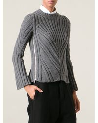 Alexander McQueen Thick Ribbed Sweater - Lyst