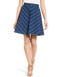 Plenty by Tracy Reese | Stripe Denim Circle Skirt | Lyst