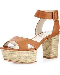 Alice + Olivia Claire Platform Leather Sandal - Lyst