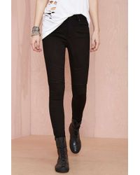 Nasty Gal Denim - The Rider Moto Skinny - Lyst