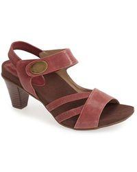 Aetrex - 'kendall' Leather Quarter Strap Sandal - Lyst