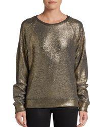 C&c California Metallic Terry Sweatshirt - Lyst