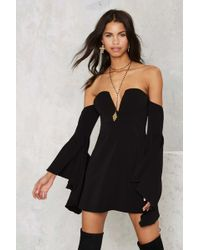 Nasty Gal | Back To You Off-the-shoulder Mini Dress | Lyst