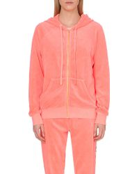 Juicy Couture Beach Relaxed Velour Hoody - Lyst