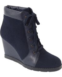 Kate Spade Saja Wedge Ankle Boots - Lyst