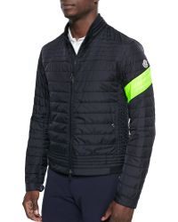 Moncler Quilted Front-Zip Jacket - Lyst