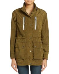Vince Camuto - Hooded Stand Collar Anorak - Lyst
