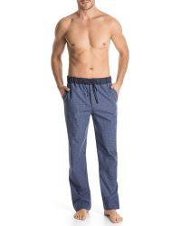 Hanro Woven Checkprint Lounge Pants - Lyst