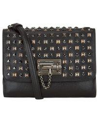 Dolce & Gabbana Studded Monica Shoulder Bag - Lyst