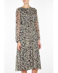 Burberry Brit Printed Longsleeve Dress - Lyst