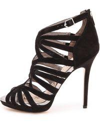 Sam Edelman Eve Caged Sandals  Black - Lyst