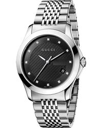 Gucci Gtimeless Collection Stainless Steel Watch Black - Lyst