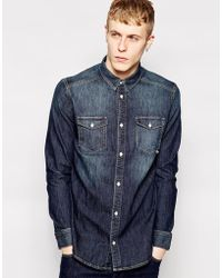Wesc Denim Shirt - Lyst