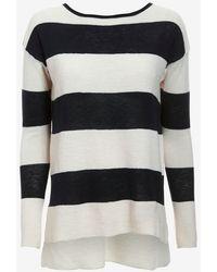 Vince Ottoman Stripe Sweater - Lyst