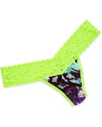 Hanky Panky Low-rise Stretch Lace Thong - Lyst