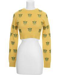 Jeremy Scott Sweater yellow - Lyst